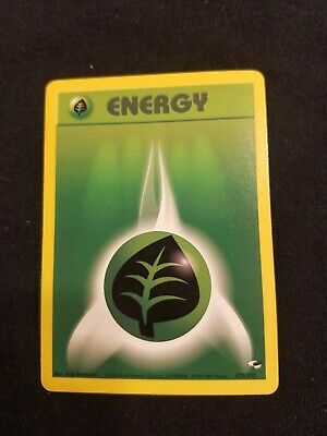 Vintage Pokemon Grass Energy from Various Sets Base Collectable Old Original
