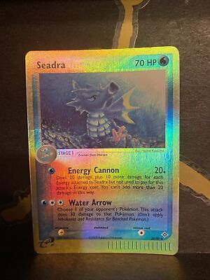Pokemon Card Seadra (EX Dragon) 39/97 Reverse Holo Uncommon Lightly Played