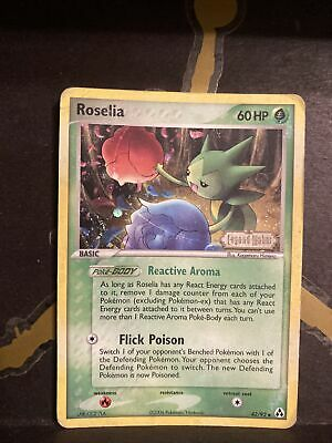 Roselia 42/92 EX Legend Maker Stamp Pokemon Reverse Holo Played