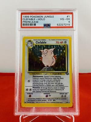 Clefable - Holo Prerelease - Jungle - PSA 4 VG-EX - 52227215 Graded Pokemon Card