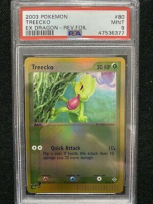 2003 Pokemon EX Dragon Treecko Reverse Foil 80/97 PSA 9 Mint