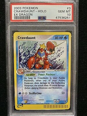 2003 Pokemon EX Dragon Crawdaunt Holo 3/97 PSA 10 Gem Mint