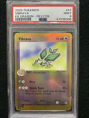 2003 Pokemon EX Dragon Vibrava Reverse Foil 47/97 PSA 9 Mint