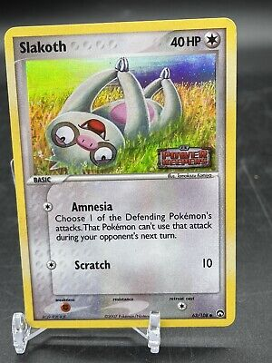 Slakoth 63/108 Holographic Power Keepers Stamped Pokemon Card.