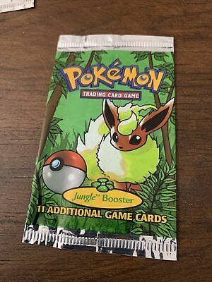Pokemon Eevee Art Booster Pack Jungle Empty Wrapper 1999 (No Cards)
