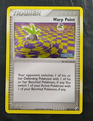 Pokemon EX Unseen Forces Warp Point  93/115 Stamped Uncommon Holo Trainer 2005