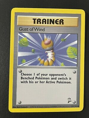 TRAINER GUST OF WIND- 120/130 - Base Set 2 - Common - Pokemon Card - WOTC - NM!!