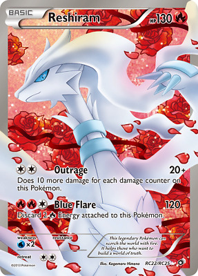 Reshiram - RC22 - Lightly Played Holofoil - Legendary Treasures - Pokemon