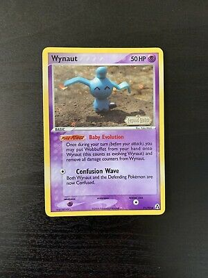 Wynaut 71/92 EX Legend Maker Stamped Holo Pokemon Card, Free Tracked Shipping!