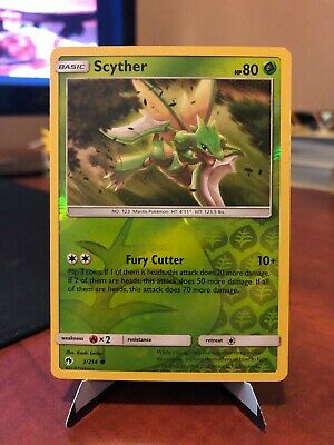 Pokemon TCG - Scyther 3/214 Reverse Holo - Lost Thunder - NM