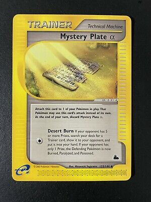 Pokemon Mystery Plate (Alpha) 133/144 Skyridge NM-Mint See Pictures