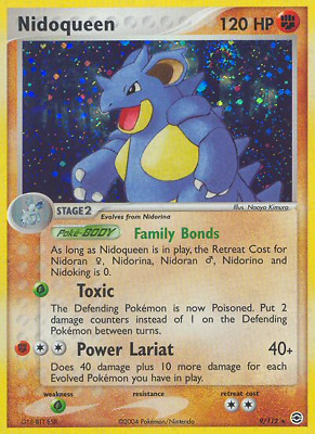 Nidoqueen - 9 - Heavily Played Holofoil - EX: FireRed & LeafGreen - Pokemon