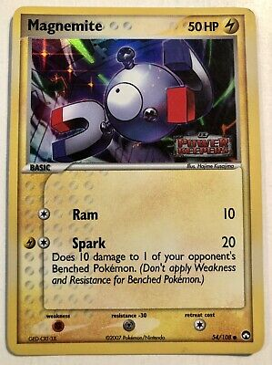 Pokemon Magnemite 54/108 EX Power Keepers Holo Stamped Card In Sleeve Toploader