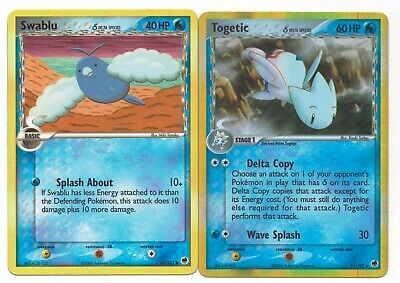 Pokemon Cards: Togetic HOLO 11/101 & Swablu 65/101 EX Dragon Frontiers Rare!