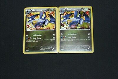 Pokemon Card LP-PL Non-Holo & Shattered Holo Garchomp 91/124 Dragons Exalted Set