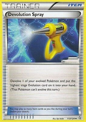 Bw Dragons Exalted Pokemon Holo Trainer Card - Devolution Spray 113/124