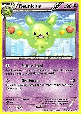 Bw Noble Victories Pokemon Reverse Holo Rare Card - Reuniclus 52/101