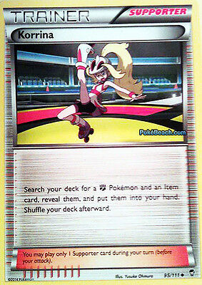 Korrina 95/111 - Xy Furious Fists Pokemon Trainer Card - In Stock Now!