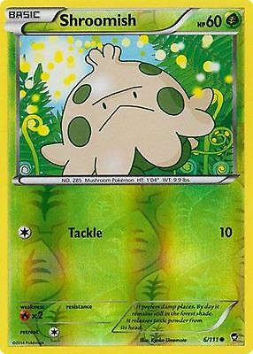Shroomish 6/111 XY Furious Fists REVERSE HOLO PERFECT MINT! Pokemon