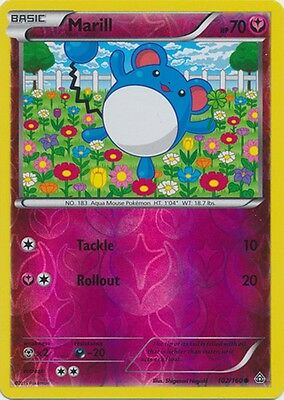 Marill 102/160 XY Primal Clash REVERSE HOLO PERFECT MINT! Pokemon