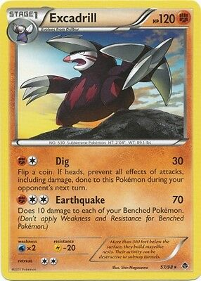 Excadrill 57/98 B&W Emerging Powers RARE MINT! Pokemon