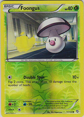 Foongus 17/124 B&W Dragons Exalted REVERSE HOLO PERFECT MINT! Pokemon