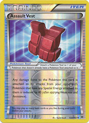 Assault Vest 133/162 XY Breakthrough REVERSE HOLO PERFECT MINT! Pokemon