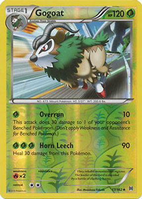Gogoat 17/162 XY Breakthrough REVERSE HOLO MINT! Pokemon