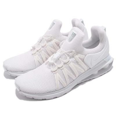 8f22d6031ccf Nike Shox Gravity Triple White Men Running Shoes Sneakers AR1999-100