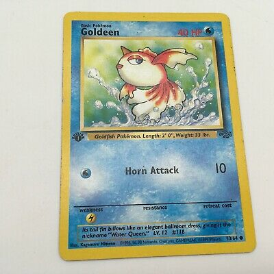Goldeen 53/64 Jungle Pokemon Card 1995 Near Mint