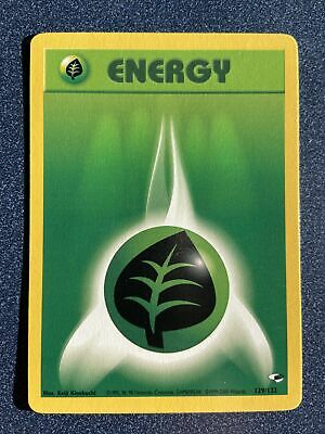 Grass Energy 129/132 Common Gym Heroes Pokemon NM Never Played