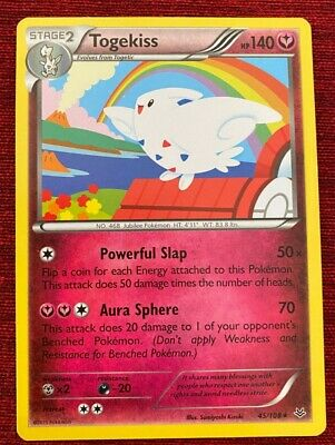 Togekiss Roaring Skies Series 45/108 Pokemon Card great condition