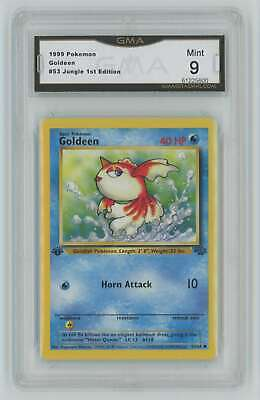 1999 Pokemon 1st Edition Jungle #53 Goldeen GMA 9 Mint M4