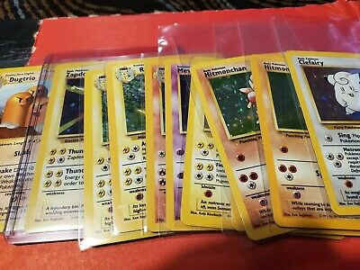 You Choose! Pokemon Base Set Unlimited Grade Ready Vintage 1998-2000 Free D.S