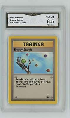 1999 Pokemon Fossil Unlimited #59 Energy Search GMA 8.5 Nm-Mt+ Q