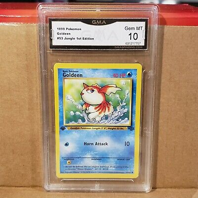 Goldeen 53/64 1st Edition Jungle Set GMA Gem MT 10 Pokemon Card