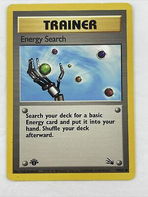 Pokemon Fossil Set 1st Edition Card Trainer Energy Search 59/62