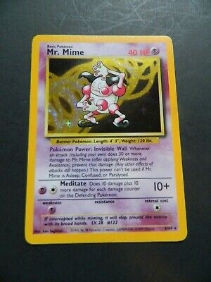 Pokemon MR. MIME 6/64 - ERROR NO SYMBOL - JUNGLE SET HOLO - (NM)