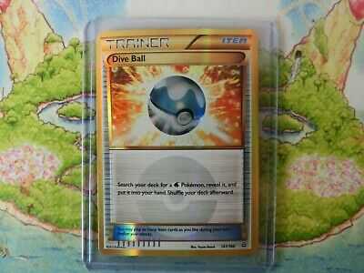 Dive Ball - 161/160 - Secret Rare Pokemon NM Pokemon XY Primal Clash
