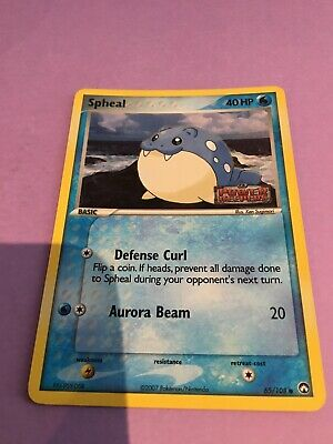 Pokemon Stamped Promo Card Ex Power Keepers Spheal 65/108