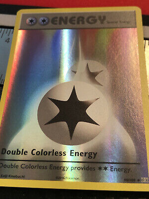 Pokemon Card XY Evolutions 90/108 Reverse Holo Double Colorless Energy NM