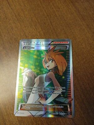 Pokemon TCG Brigette Full Art 161/162 Pokemon XY Breakthrough - NM