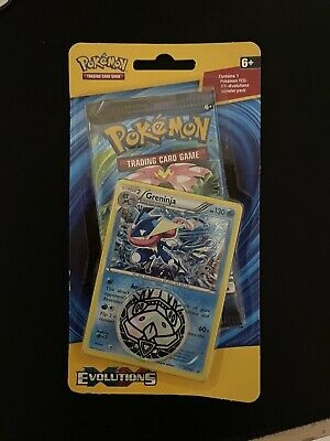 Pokemon XY Evolutions Booster Pack with Greninja and Pokemon Coin