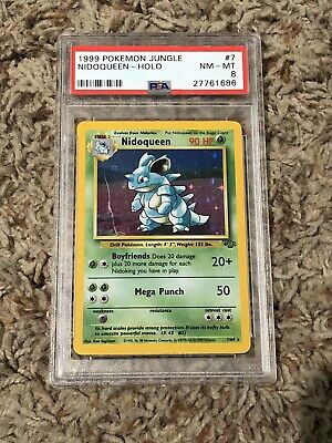 PSA 8 Pokemon Nidoqueen Jungle Set Holo Card 7/64 1999