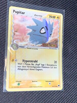 Pupitar 59/101 German Reverse Holo Foil EX Dragon Frontiers Booster Box Pokemon