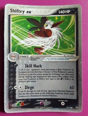 Shiftry ex from EX Power Keepers 97/108 Rare Holo Pokemon Card 2007