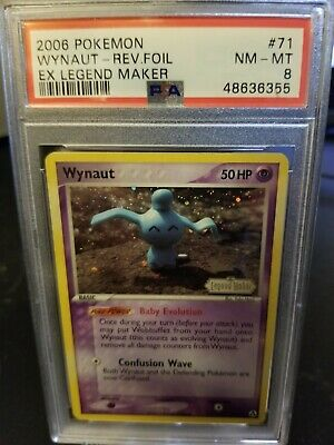 2006 Pokemon EX Legend Maker Wynaut Reverse Foil 71/92 PSA 8