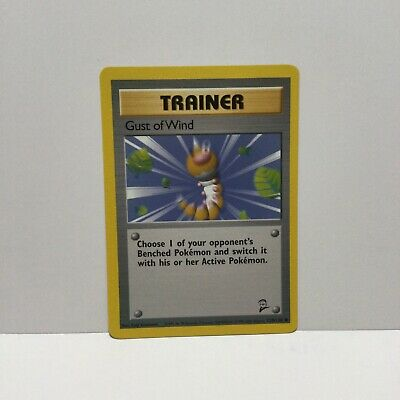 Gust Of Wind 93/102 Common Trainer Base Set 2 Pokemon Card Nm Never Used 2000