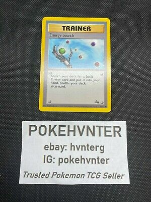 Pokemon WOTC Energy Search 59/62 Fossil Set UNLIMITED Common LP/NM
