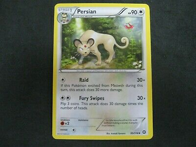 Pokemon Card Steam Siege Number 89 PERSIAN